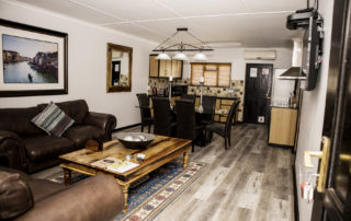 open plan loune dining kitchen area
